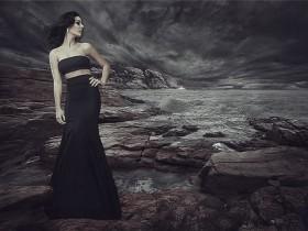 如何将美人鱼添加到黑暗的风景