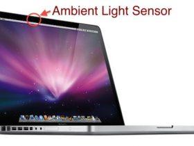 MacBook Pro上的环境光传感器在哪里?